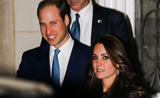 Prince William and Kate leave the lavish dinner hosted by Advert