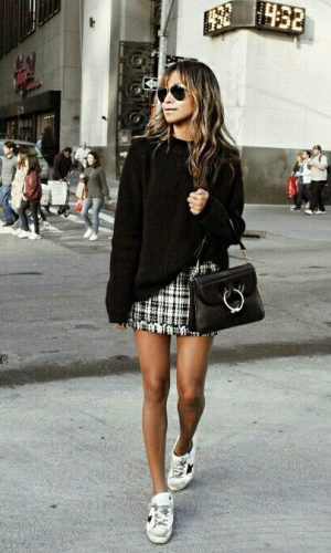 look com saia, moda, estilo, inspiração, looks, outfit with skirt, fashion, style, inspiration, outfits