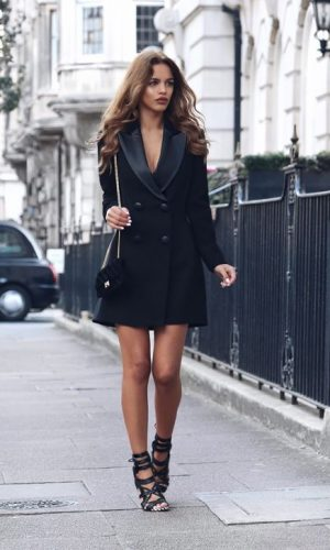 tuxedo dress, vestido blazer, moda, estilo, look, fashion, style, outfit