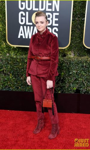 golden globes 2019, golden globes, awards season, red carpet, fashion, look, gown, tapete vermelho, premiação, moda, look, vestido longo, hollywood, elsie fisher