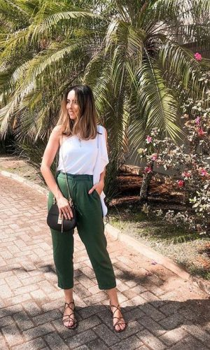 calça verde, look do dia, gabi may, green pants, outfits, fashion